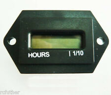 Hour Meter with Reset 110v to 230v AC 60 Cycle New in box.LCD resettable generic
