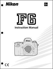 Nikon F6 User Manual Guide Instruction Operator Manual