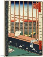 Asakusa Ricefields and Torinomachi Gestival Canvas Art Print Utagawa Hiroshige