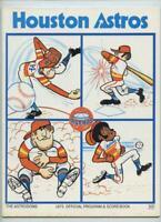 1975 Vintage MLB Baseball Houston Astros Los Angeles Dodgers Program