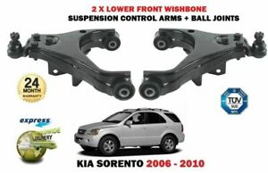 FOR KIA SORENTO 2004-2010 LEFT + RIGHT SIDE LOWER SUSPENSION FRONT WISHBONE ARM