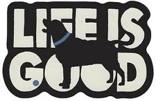 Life Is Good Bark Like You Mean It Oval Dog Car Magnet Bumper Sticker