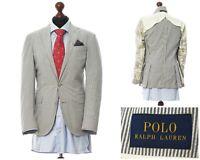 Mens POLO RALPH LAUREN Blazer Coat Jacket Cotton Striped White Size 36 46