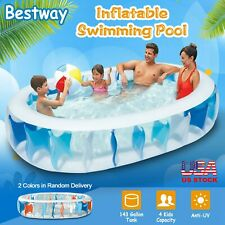 90''Inflatable Family Swimming Pool Outdoor Backyard Summer Lounge Water Fun Kid