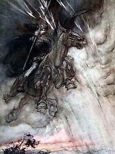 Pintura Rin y las valquirias frontis Fantasy Art Print cartel LF2207