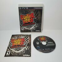 Guitar Hero: Warriors of Rock for PlayStation 3 PS3 2010 COMPLETE