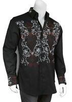 Men's 100% Cotton Stylish Casual  Embroidered Fashion Dress Shirt  M37
