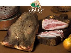 GUANCIALE (GOTA) STAG.AL PEPERONCINO KG.1 CIRCA (Seasoned cheek with pepper)