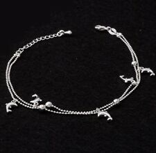 Pretty Dophin Charm anklet bracelet ankle chain Silver charms Gift Beach