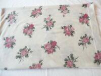 1 Pillow Case Ashley Cooper Fleece Pink Floral Roses Print