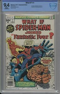 WHAT IF? 1 CBCS / CGC 9.4 WHITE 1977 SPIDER-MAN JOINS FF DISNEY +
