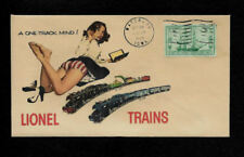 1940s Lionel Trains & Pin Up Girl Featured on Collector's Envelope *OP257