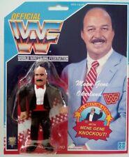 WWF Hasbro custom mean gene okerlund wrestling figure WWE wcw moc