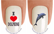 "Nail Decals #2023 ANIMAL ""Dolphin 3 I Love"" WaterSlide Nail Art Transfer Sticker"