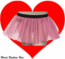 Baby Pink tutu skirt Teen Adult Women Fairy Butterfly doll Dance Party Halloween
