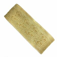 Handmade Gold Woven Jacquard ribbon 2 inch wide - price for 1 yard