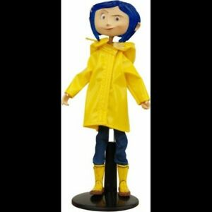 -=] NECA - Coraline yellow raincoat bendable doll [=-