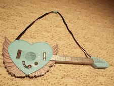 Toy girl blue & purple wings guitar free shipping