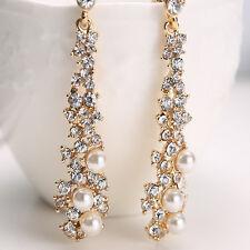 Dangle Earrings Ear Stud Jewelry Fashion Women's Pearl Crystal Rhinestone Alloy