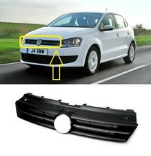 NEW VW POLO 2009-2014 FRONT BUMPER MAIN CENTER UPPER GRILLE WITH CHROME MOULDING