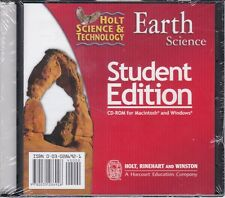 Holt Science & Technology Earth Science Student Edition Pc Cd-Rom *New*