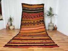 Moroccan Vintage wool Rug 5x11 Handmade Moroccan tribal berber carpet Hanbal Rug