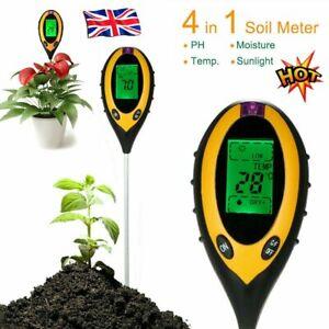 4 In1 PH Tester Soil Water Moisture Light Test Meter Kit Garden Flower Plant UK