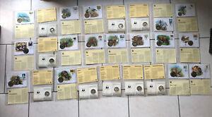 Numisbriefe u. Gedenkmünzen * WWF * 25 St. * verschiedene Tiermotive * Sammlung