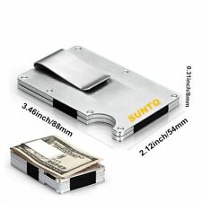 Metal Aluminum Minimalist Slim Money Clip Wallet Credit Card Holder RFID Blockin