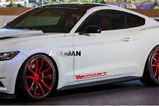 SPORT Vinyl Decal Sticker Sport Car Racing logo emblem fits MUSTANG RED PAIR