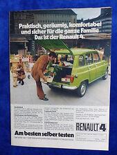 Renault 4 - Werbeanzeige Reklame Advertisement 1972 __ (737