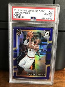 2017-18 Donruss Optic PURPLE LeBron James Basketball Card #27 PSA 10 Gem Mint