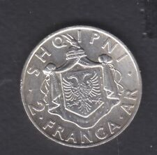 1935 Albania. 2 FR.AR. Silver coin 10 gr Rare.  See the Picture.     130