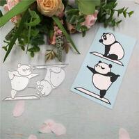 Stanzschablone Panda Yoga Hochzeit Weihnachts Oster Geburtstag Karte Album DIY