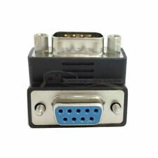 Right Angled DB9 Adapter 9 Pin RS232 Male to Female Serial Extension 90 Degree