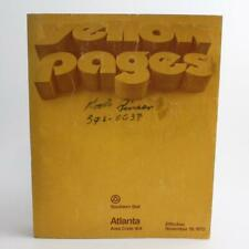 1972 Atlanta yellow pages phone book by southern bell