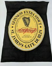 "Guinness Beer Extra Stout St James Gate Dublin Cloth Hanging Bar Towel 16"" x 23"""