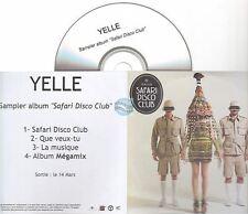 Yelle Safari Disco Club Cd Sampler Promo Inclus Album Megamix