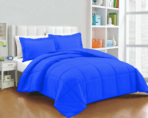 Glorious Down Alternative Comforter 100/200/300 GSM Egyptian Blue Solid Full XL