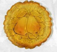 "Tiara / Indiana Glass Plate 8.25"" Sweet Pear Burnt Honey Amber"