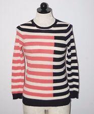 J CREW UK 100% Italian Cashmere Tippi Color-block Crewneck Sweater XS
