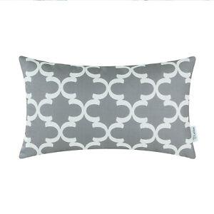 "CaliTime Cushion Cover Pillows Shell Quatrefoil Geometric Home Sofa Decor 12x20"""