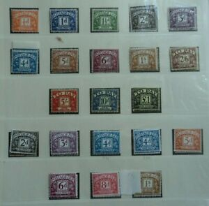 COLLECTION OF 42 PRE DECIMAL GB POSTAGE DUES