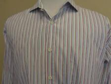 Billy Reid French Cuff Heirloom Dress Shirt Mens sz 17 Striped Made in Italy