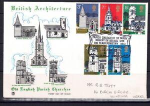 QEII FDC 143i (St Marys Langley Slough) British Architecture Village churches