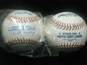 2 new Rawlings Pacific Coast League (defunct) baseballs