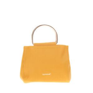 NAJ-OLEARI Mini Tote Bag PU Leather Metal Handles Detachable Strap Slouchy