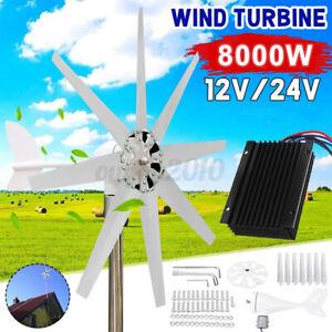 8000W 8 Blades Wind Turbine Generator DC 12V 24V Charger Controller Wind Generat