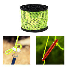 New 4mm 50m Reflective Guyline Camping Cord Paracord Tent Roll Guy Rope Line