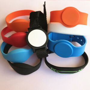 rfid wristbands 13.56mhz MIFARE Classic 1K ISO14443A Silicone Access Control -5